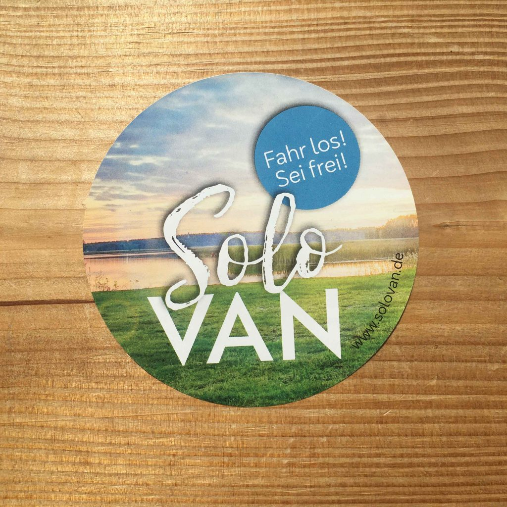 Solo Van Life Sticker